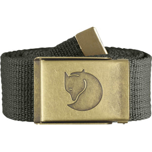 Canvas Brass Belt - 4 cm-Fjallraven-Mountain Grey-Uncle Dan's, Rock/Creek, and Gearhead Outfitters
