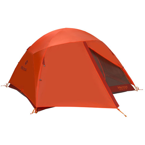 Catalyst 3P Tent-Marmot-Rusted Orange/Cinder-Uncle Dan's, Rock/Creek, and Gearhead Outfitters