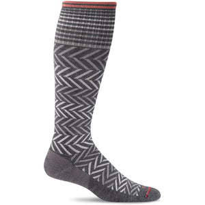 Women's Chevron Graduated Compression Socks-Sockwell-Charcoal-S/M-Uncle Dan's, Rock/Creek, and Gearhead Outfitters