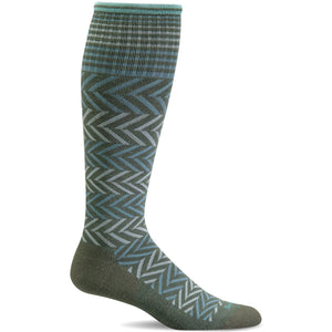 Women's Chevron Graduated Compression Socks-Sockwell-Eucalyptus-S/M-Uncle Dan's, Rock/Creek, and Gearhead Outfitters