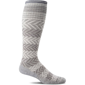 Women's Chevron Graduated Compression Socks-Sockwell-Light Grey-M/L-Uncle Dan's, Rock/Creek, and Gearhead Outfitters