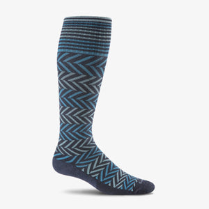 Women's Chevron Graduated Compression Socks-Sockwell-Navy-S/M-Uncle Dan's, Rock/Creek, and Gearhead Outfitters