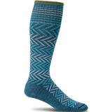 Women's Chevron Graduated Compression Socks-Sockwell-Teal-S/M-Uncle Dan's, Rock/Creek, and Gearhead Outfitters