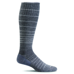 Women's Circulator Graduated Compression Socks-Sockwell-Charcoal Stripe-S/M-Uncle Dan's, Rock/Creek, and Gearhead Outfitters