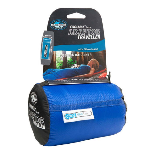 Coolmax Adaptor Traveller Liner-Sea to Summit-Blue-Uncle Dan's, Rock/Creek, and Gearhead Outfitters