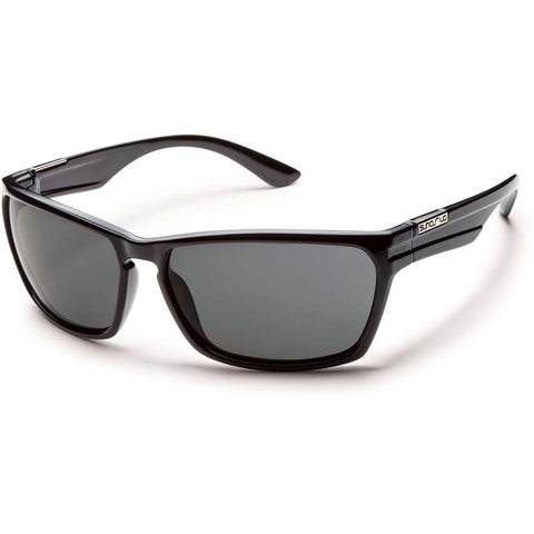 Cutout Sunglasses (Medium Fit)-Suncloud-Black/Polarized Gray-Uncle Dan's, Rock/Creek, and Gearhead Outfitters