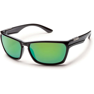 Cutout Sunglasses (Medium Fit)-Suncloud-Black/Polarized Green Mirror-Uncle Dan's, Rock/Creek, and Gearhead Outfitters
