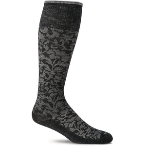 Women's Damask Graduated Compression Socks-Sockwell-Black-S/M-Uncle Dan's, Rock/Creek, and Gearhead Outfitters