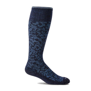 Women's Damask Graduated Compression Socks-Sockwell-Navy-S/M-Uncle Dan's, Rock/Creek, and Gearhead Outfitters