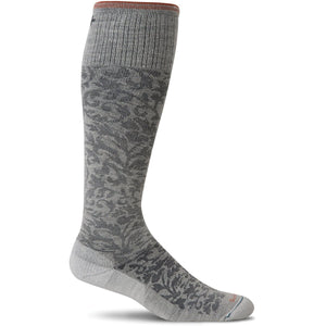 Women's Damask Graduated Compression Socks-Sockwell-Oyster-S/M-Uncle Dan's, Rock/Creek, and Gearhead Outfitters