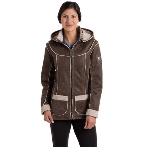 Women's Dani Sherpa Jacket-KUHL-Oak-XS-Uncle Dan's, Rock/Creek, and Gearhead Outfitters
