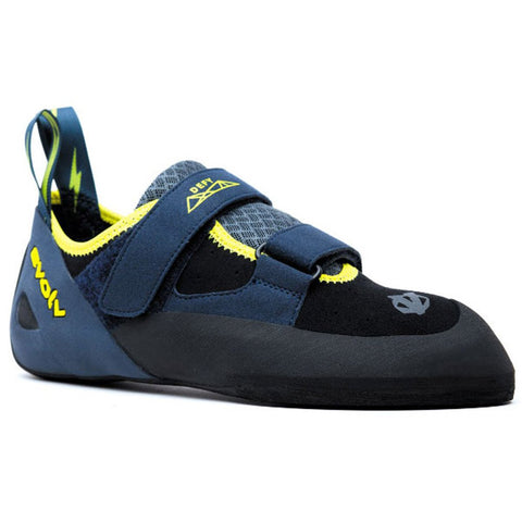 Men's Defy Black Climbing Shoe-Evolv-Black Sulfur-10-Uncle Dan's, Rock/Creek, and Gearhead Outfitters