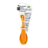 Delta Cutlery Set-Sea to Summit-Pindan Orange-Uncle Dan's, Rock/Creek, and Gearhead Outfitters