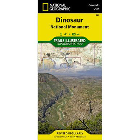 Dinosaur National Monument Map-National Geographic Maps-Uncle Dan's, Rock/Creek, and Gearhead Outfitters