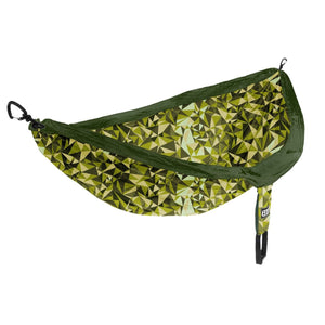 DoubleNest Print Hammock-Eagles Nest Outfitters-Geo/Green-Uncle Dan's, Rock/Creek, and Gearhead Outfitters