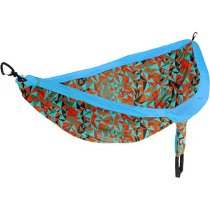 DoubleNest Print Hammock-Eagles Nest Outfitters-Geo/Orange-Uncle Dan's, Rock/Creek, and Gearhead Outfitters