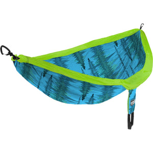 DoubleNest Print Hammock-Eagles Nest Outfitters-Soundwave/Aqua-Uncle Dan's, Rock/Creek, and Gearhead Outfitters