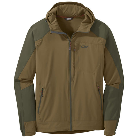 Men's Ferrosi Hooded Jacket-Outdoor Research-Coyote Fatigue-M-Uncle Dan's, Rock/Creek, and Gearhead Outfitters