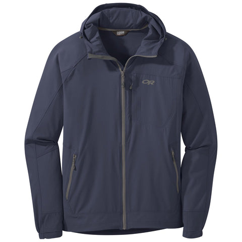 Men's Ferrosi Hooded Jacket-Outdoor Research-Naval Blue-M-Uncle Dan's, Rock/Creek, and Gearhead Outfitters