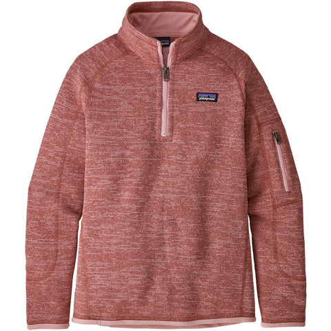 Girls Better Sweater 1/4 Zip-Patagonia-Aurea Pink-L-Uncle Dan's, Rock/Creek, and Gearhead Outfitters