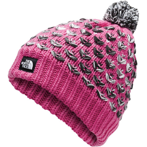 Girls Chunky Pom Beanie - Clearance - Clearance-The North Face-Montague Blue Multi-Uncle Dan's, Rock/Creek, and Gearhead Outfitters
