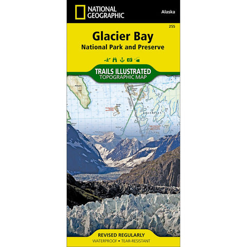 Glacier Bay National Park And Preserve Map-National Geographic Maps-Uncle Dan's, Rock/Creek, and Gearhead Outfitters