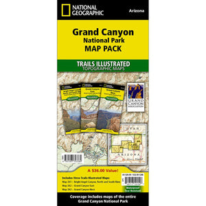 Grand Canyon National Park [Map Pack Bundle] Map-National Geographic Maps-Uncle Dan's, Rock/Creek, and Gearhead Outfitters