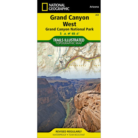 Grand Canyon West [Grand Canyon National Park] Map-National Geographic Maps-Uncle Dan's, Rock/Creek, and Gearhead Outfitters