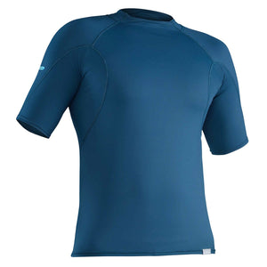 Men's H2Core Short Sleeve Rashguard-Northwest River Supplies-Moroccan Blue-L-Uncle Dan's, Rock/Creek, and Gearhead Outfitters