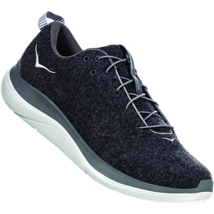 HOKA ONE ONE Men's Hupana Flow Wool-1105589_Dark Shadow / Charcoal Gray