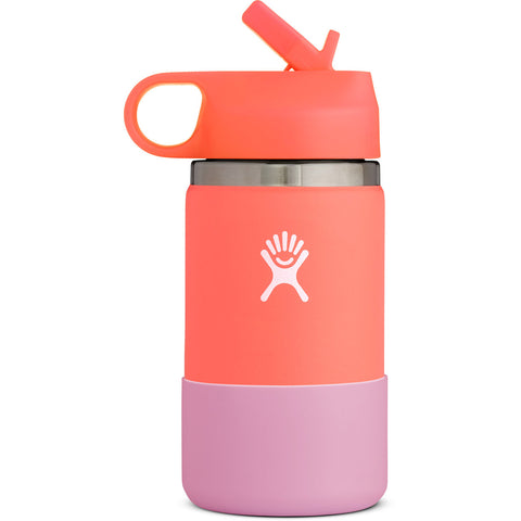 12 oz Kids Wide Mouth Bottle-Hydro Flask-Hibiscus/Peach-Uncle Dan's, Rock/Creek, and Gearhead Outfitters