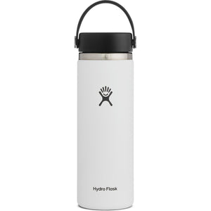Hydro Flask 20 oz Wide Mouth Water Bottle-W20BTS110_White