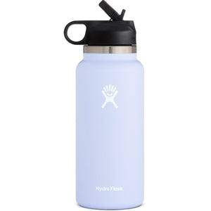 Hydro Flask 32 oz Wide Mouth Water Bottle with Straw Lid-W32BSW508_Fog