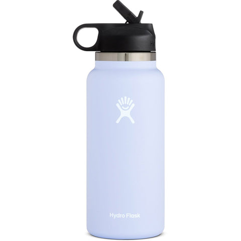 Hydro Flask 32 oz Wide Mouth Water Bottle with Straw Lid-W32BSW001_Black