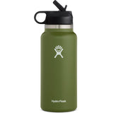 Hydro Flask 32 oz Wide Mouth Water Bottle with Straw Lid-W32BSW306_Olive
