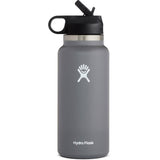 Hydro Flask 32 oz Wide Mouth Water Bottle with Straw Lid-W32BSW010_Stone