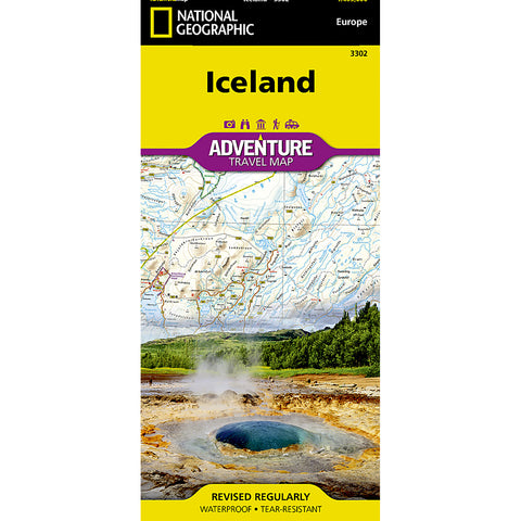 Iceland Map-National Geographic Maps-Uncle Dan's, Rock/Creek, and Gearhead Outfitters