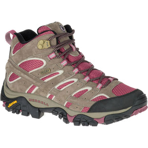 Women's Moab 2 Mid Waterproof-Merrell-Boulder/Blush-6-Uncle Dan's, Rock/Creek, and Gearhead Outfitters