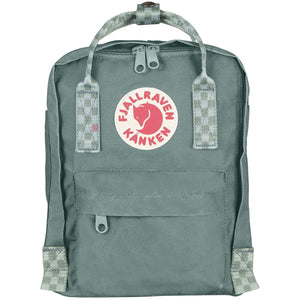 Kanken Mini Backpack-Fjallraven-Frost Green/Chess Pattern-Uncle Dan's, Rock/Creek, and Gearhead Outfitters