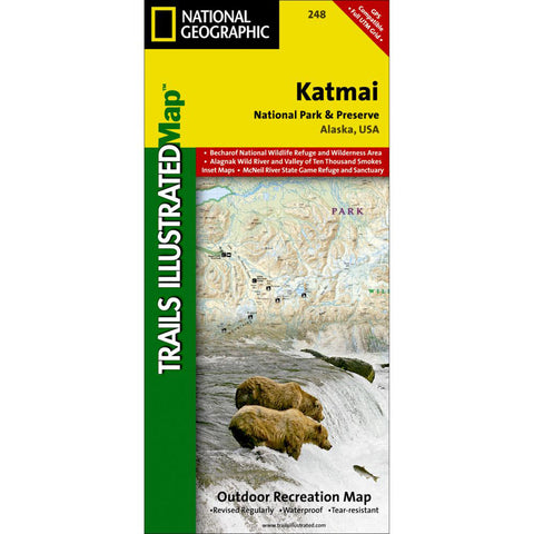 Katmai National Park And Preserve Map-National Geographic Maps-Uncle Dan's, Rock/Creek, and Gearhead Outfitters