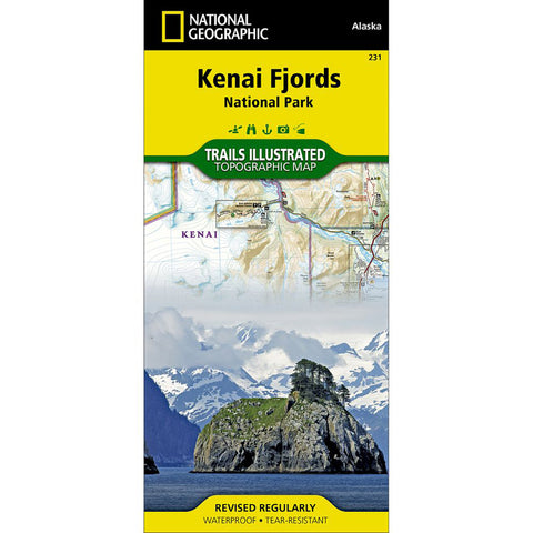 Kenai Fjords National Park Map-National Geographic Maps-Uncle Dan's, Rock/Creek, and Gearhead Outfitters