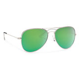 Kennedy-Forecast Optics-Silver with Green Mirror Lens-Uncle Dan's, Rock/Creek, and Gearhead Outfitters