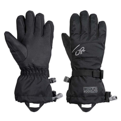 Kids Adrenaline Gloves-Outdoor Research-Black-S-Uncle Dan's, Rock/Creek, and Gearhead Outfitters