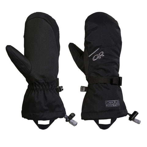 Kid's Adrenaline Mitts-Outdoor Research-Black-S-Uncle Dan's, Rock/Creek, and Gearhead Outfitters