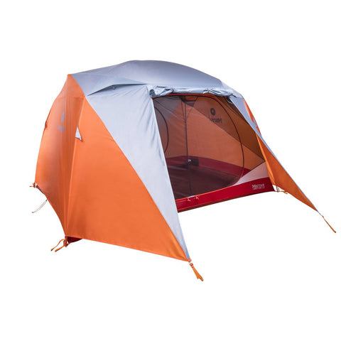 Limestone 6P Tent-Marmot-Orange Spice/Arona-Uncle Dan's, Rock/Creek, and Gearhead Outfitters