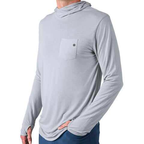 Free Fly Men's Bamboo Lightweight Hoody-LWH_Aspen Grey