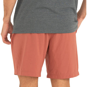 Free Fly Men's Lined Breeze Short-MLBS_Adobe Red