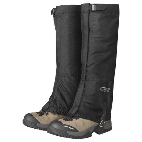 Men's Rocky Mountain High Gaiters-Outdoor Research-Black-S-Uncle Dan's, Rock/Creek, and Gearhead Outfitters