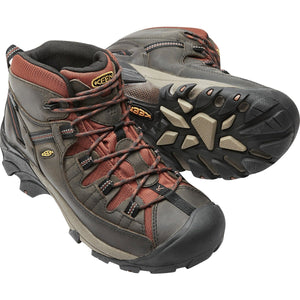Men's Targhee II Waterproof Mid Hiking Boot-KEEN-Raven Tortoise Shell-8-Uncle Dan's, Rock/Creek, and Gearhead Outfitters