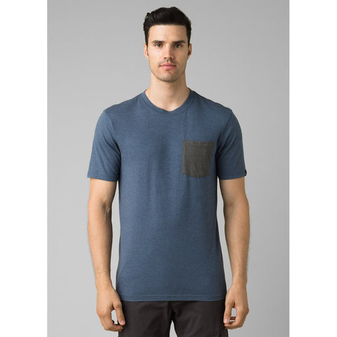 Men's prAna Pocket T-Shirt-prAna-Denim Heather-S-Uncle Dan's, Rock/Creek, and Gearhead Outfitters